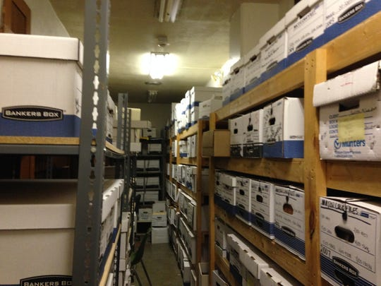 Rows of case files have filled this room at the Jackson Police Department, 234 Institute St.