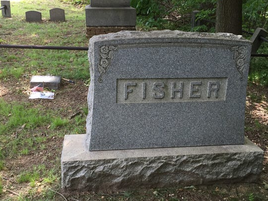 Stanley Fisher's grave in Matawan's Rose Hill Cemetery.