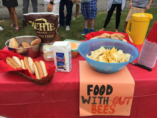 "At a ""To Bee or Not to Bee"" picnic in Buccleuch Park, Environment New Jersey aimed to raise awareness about the issue of bee colony collapse and encourage the Environmental Protection Agency (EPA) to take action to ban the class of pesticides known as neonicotinoids to protect the bees."