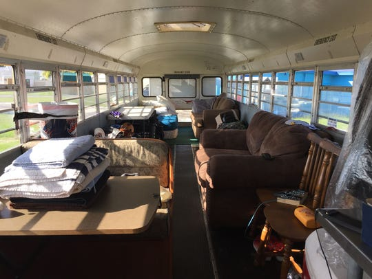 The Reviresco bus comfortably sleeps 8. There are couches,