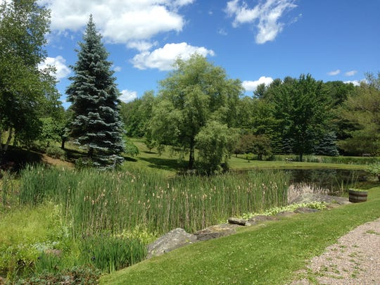 A pond behind the Inn at the Round Barn in Waitsfield.