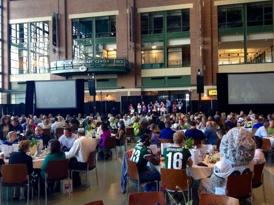 The second annual MDA Green Bay Muscle Team Gala was held at the Lambeau Field Atrium on Thursday night, June 23, to raise money for the local chapter of the Muscular Dystrophy Association.