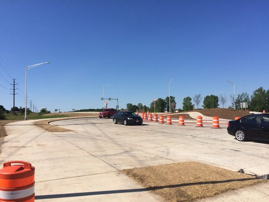 The roundabout at Wisconsin 42-57 and Egg Harbor Road in Sturgeon Bay partially opened Thursday afternoon.