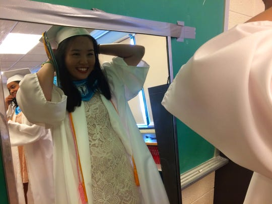 Eighteen- year-old Ruo Nan Huang, valedictorian for
