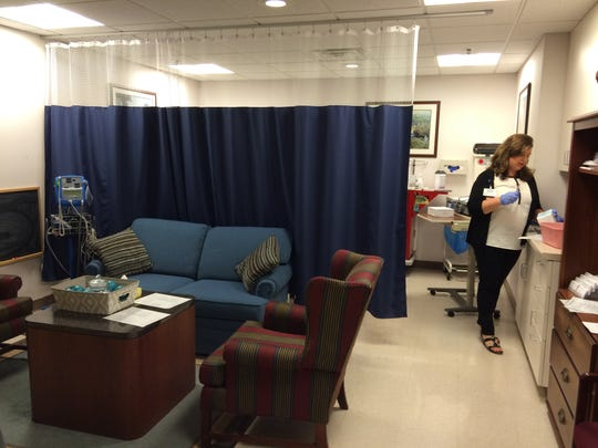 Sexual assault victims can talk with advocates in a more comfortable setting before getting on the exam table at Aurora Medical Center in Oshkosh.