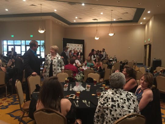 Local chamber of commerce members attend the Ruidoso