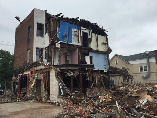 Hotel Lafayette demolition 1
