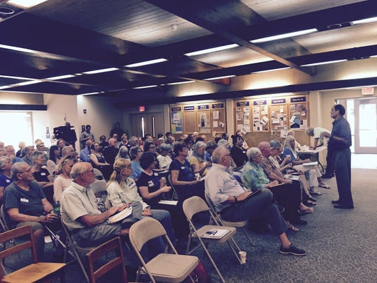 More than 50 people came to hear representatives from