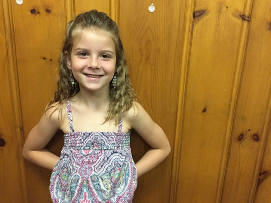 Alanah Snavely, 7, was bitten by a rabid cat in North Lebanon Township. She has been treated and is doing fine.