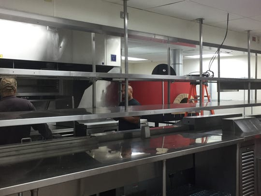 The kitchen at the new Campo in Sparks can easily accommodate butchering, pasta making and a wood-fire pizza oven.