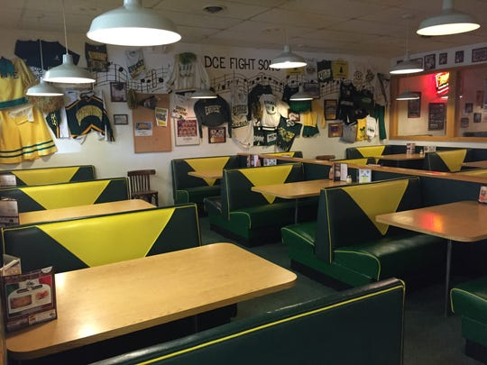 The D.C. Everest room at the Schofield location is one of the many things that will remain the same as Sam's Pizza is passed down.