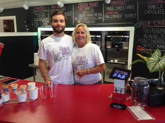 Joey's Custard is now open in Bailey's Center on Sanibel. Pictured are owners Joe Almeida and his mom, Debi Almeida.