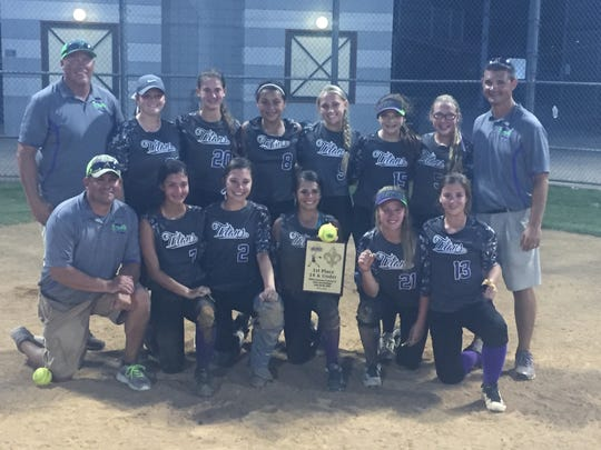 Louisiana Titans softball includes on back row coach