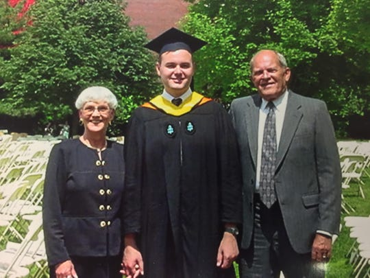 Rick Minor with Lyn and Sonny Parker after earning a master's in public administration from Harvard University's Kennedy School of Government.