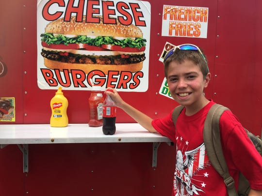 Brandon Laliberte, 12, said he was especially excited for the food.