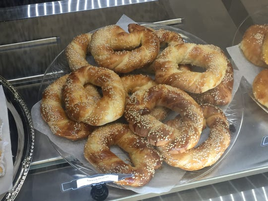 The Turkish pretzels from Bake Your Day are sprinkled