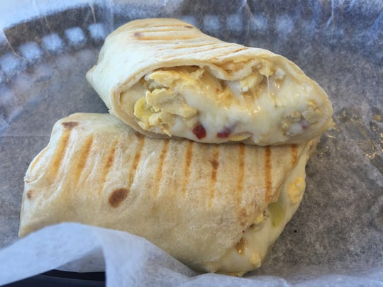 The breakfast wrap from Henrietta's Bake Your Day is
