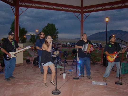 La Ultima, a Carrizozo band preformed at the fireworks event, sponsored by Carrizozo Volunteer Fire Department  at Valley del Sol in Carrizozo. A guest musician, Bethany Rey Sanchez Martinez, former Hondo Valley resident, sang several songs at the fireworks display. Martinez , from Las Cruces is a music teacher.