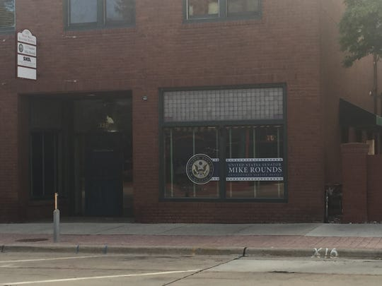 Sen. Mike Rounds' office at 320 N. Main Ave. was broken