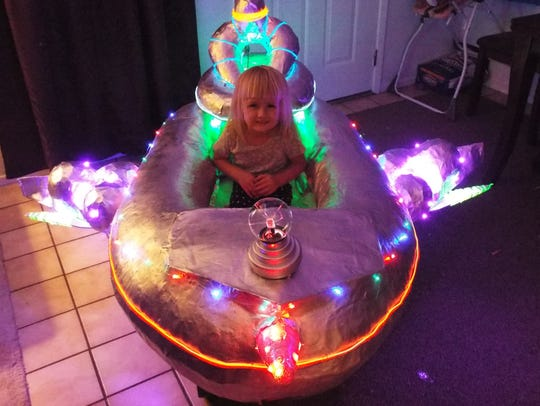 Jeff Casey finished the UFO float the weekend before