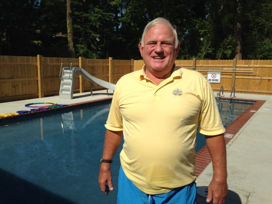 Jimmy Carmichael continues to teach swimming at Carmichael Swim School. The school has a new location — 170 Tinkerhill Road.