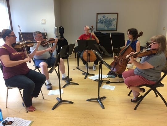 The string quintet will only practice its music four