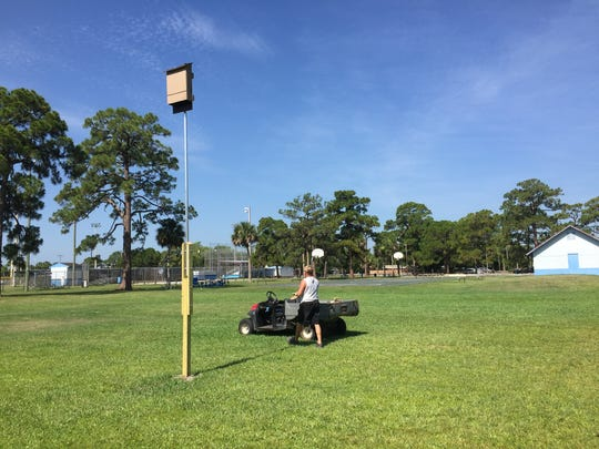 A bat box was recently installed at McLarty Park in Rockledge to attract bats to help control mosquitoes