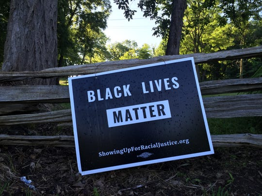 One of the signs currently hanging on the Rokeby Museum's property on U.S. 7.