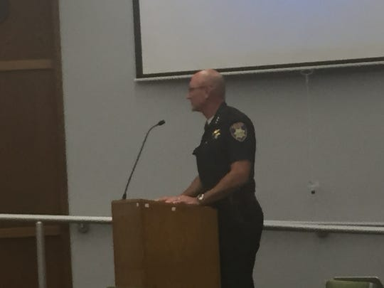 Police Chief Kelly McMillin at July 12 City Council meeting