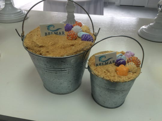 "The cupcake shop also sells cakes, such as their famous ""Belmar Buckets."""