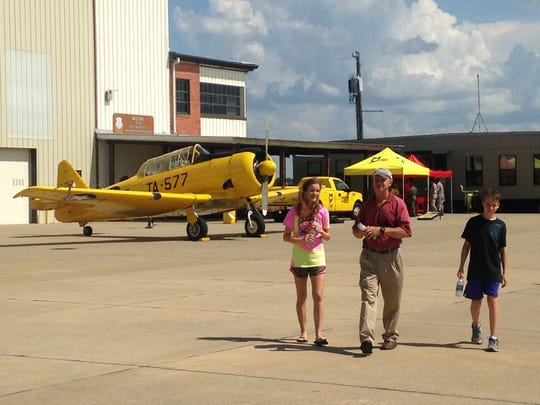 Hundreds come out to visit the 187th Air National Guard Fighter Wing during the unit's Open House event Thursday.