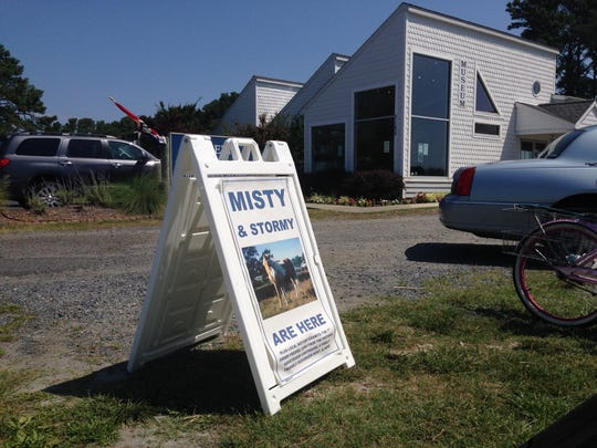A sign outside the Museum of Chincoteague.