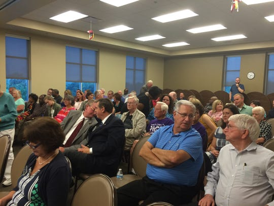 There was standing room only at times during the two-hour candidate forum at Highland Crest College on Thursday, July 14, 2016.