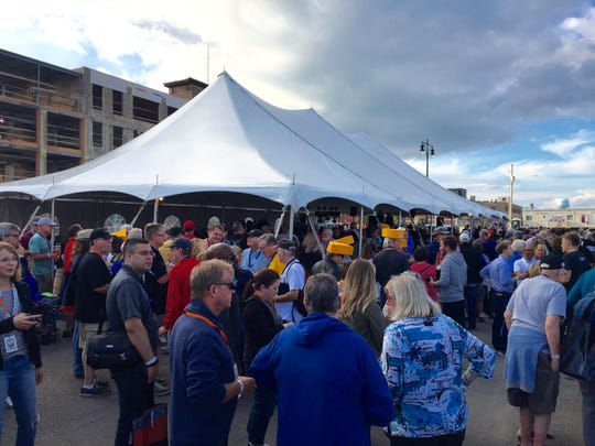 Thousands of Mini Cooper owners stopped at Titletown to partake in Wisconsin favorites.