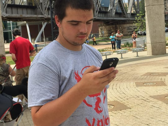 Justin Cherry, 20, is a Pokemon Go player who came out to be a part of Saturday's Pokemon for Progress