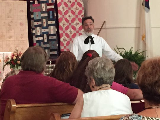 The Rev. Steve Oswalt delivers his sermon Sunday at