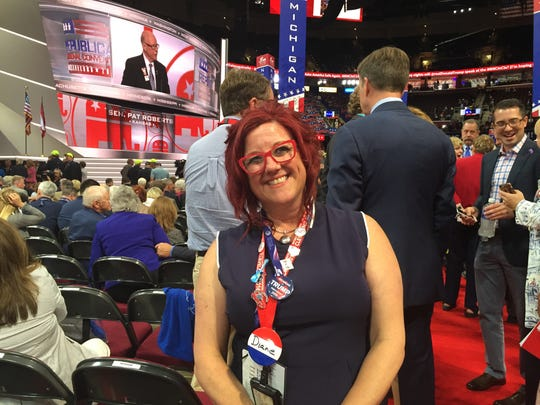 Dian Schindlebeck is a delegate for Donald Trump from Spring Lake, Mich. Michigan has 59 delegates at the Republican National Convention this year.