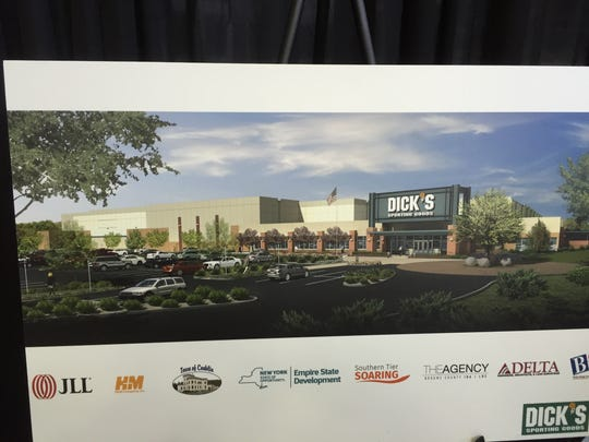 An artist's rendering of the new Dick's Sporting Goods