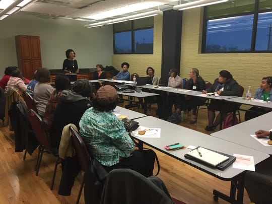 A public meeting at Louisville Central Community Center run by consulting firm Lord Cultural Resources that is assisting in creating The Greater Louisville Master Plan for the Arts.