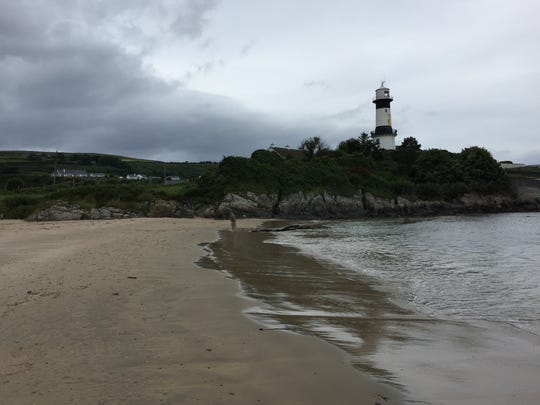 The lighthouse at Dunagree Point. Even in mid-afternoon