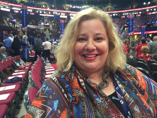 Emily Beaty, a Republican Party delegate from Cleveland, Tenn.