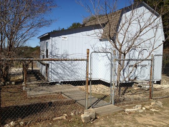 Felix Vail was living in this storage shed in Canyon Lake, Texas, when he was arrested in 2013 and charged with murder in Mary Vail's death.