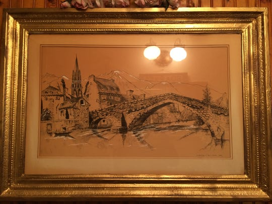 Pen on ink drawing by Henrietta Raymond's father, Harry Ritter.