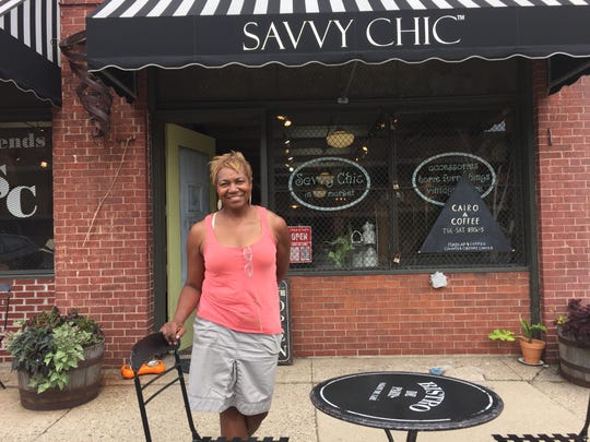 Karen Brown owns Savvy Chic in Eastern Market, seen here in July 2016 photo