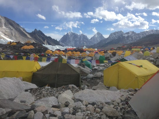 Photo of Base Camp at Mount Everest, where Jen Loeb of Marengo just returned from a successful climb. (Photo courtesy of Jen Loeb)