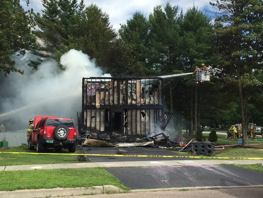 A home at 82 Overlake Drive in Milton was destroyed