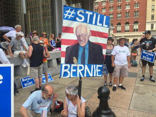 "The ""Bernie or Bust"" crowd kept pushing Tuesday."