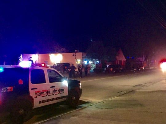 Police on the scene near Patrick's bar on College Avenue