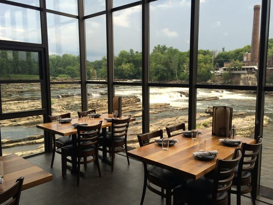 Inside Waterworks Food + Drink, which sits on the Winooski River.