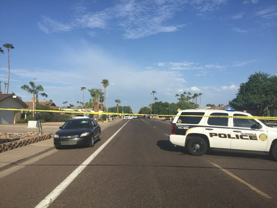 The Scottsdale SWAT team was dealing with a person barricaded inside a house near 46th Avenue and Butler Drive in Glendale on July 29, 2016. The SWAT team was attempting to serve a search warrant.